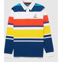 Mens Nautica Competition English Stripe Logo Rugby Polo Shirt - Multi, Multi