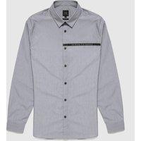 Mens Armani Exchange All Over Laser Logo Shirt - Black, Black