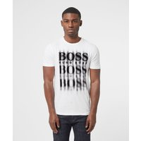 Mens BOSS Blurry T-Shirt - White/Black, White/Black
