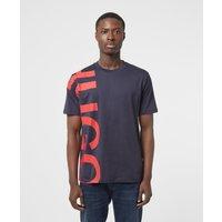 Mens HUGO Daws Vertical Logo T-Shirt - Navy, Navy