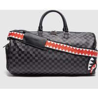 Mens SPRAYGROUND Sharks in Paris Check Holdall Bag - Grey, Grey