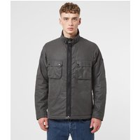 Mens Barbour International Tennant Wax Jacket - Grey, Grey