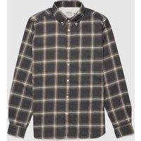 Mens Barbour International Steve McQueen Holman Check Shirt - Green, Olive