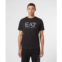 Mens Emporio Armani EA7 Visibility Logo T-Shirt - Black, Black