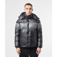 Mens Emporio Armani EA7 Mountain Shine Colour Block Jacket - Black/Grey, Black/Grey