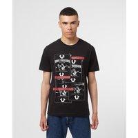 Mens True Religion Buddha Stacked T-Shirt - Black, Black