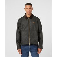 Mens Barbour Beacon Toll Wax Jacket - Green, Green