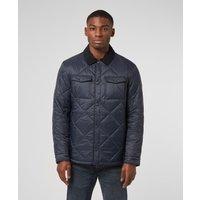 Mens Barbour Shirt Quilt Jacket - Blue, Blue