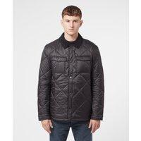 Mens Barbour Shirt Quilt Jacket - Black, Black