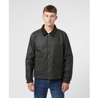 Mens Barbour Dom Wax Jacket - Green, Green