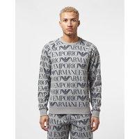 Emporio Armani All Over Logo Sweatshirt - Grey, Grey