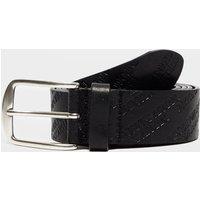 Emporio Armani All Over Logo Belt - Black, Black