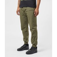 Image of Calvin Klein Jeans Nylon Cuffed Track Pants - Olive/Olive, Olive/Olive