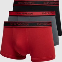 Emporio Armani 3-Pack Boxer Shorts - Red, Red