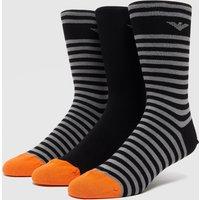 Emporio Armani 3-Pack Socks - Black, Black