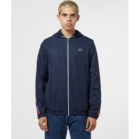 Lacoste Diagonal Tape Hooded Track Top - Navy blue, Navy blue