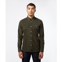 Image of Barbour Beacon Balfour Long Sleeve Corduroy Shirt - Olive/Olive, Olive/Olive