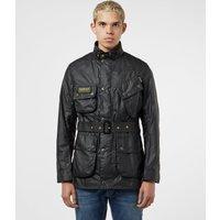 Barbour International Slim Waxed Jacket - Black, Black
