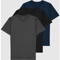 BOSS 3-Pack Logo Short Sleeve T-Shirts - Navy blue, Navy blue