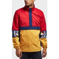 Tommy Jeans Retro Block Overhead Light Jacket - Red, Red