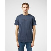 Tommy Jeans Linear Logo Short Sleeve T-Shirt - Navy blue, Navy blue