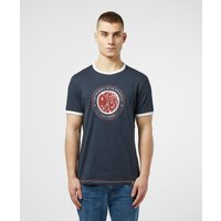 Pretty Green Likeminded Ringer Short Sleeve T-Shirt - Navy blue, Navy blue