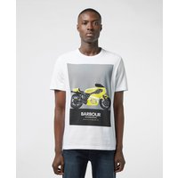 Barbour International Posterise Short Sleeve T-Shirt - White, White