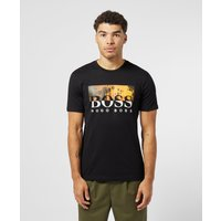 BOSS Summer Palm Short Sleeve T-Shirt - Black, Black