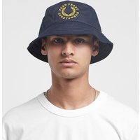 Fred Perry Global Branded Bucket Hat - size? Exclusive, Azul