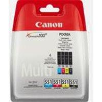 Canon CLI-551 BK/C/M/Y Ink Cartridge Multipack