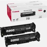 Canon 718VP Black Toner Cartridge (Twin Value Pack)