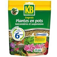KB Engrais osmocote plantes en pots, balconnières et suspensions sac refermable - 25 dés