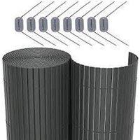 CATRAL Canisse en PVC DF - 1 x 3 m - Gris anthracite