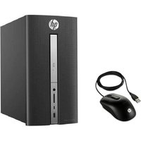 HP Pavilion PC de bureau - 570p010nf - 8Go de RAM - Windows 10 - INTEL CORE I5-7400- AMD RADEON R5 435- Disque dur 2To + souris