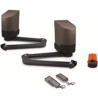 AVIDSEN Kit de motorisation à bras articulés pour portail à 2 battants 2,5mx200kg max 24V Orane 400