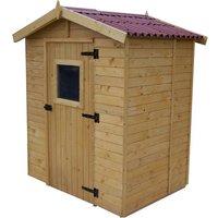 Abri de jardin 2,61m² en bois - Toiture en plaques ondulées