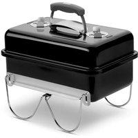 WEBER Barbecue à charbon Go-Anywhere Charcoal - Acier chromé - Noir