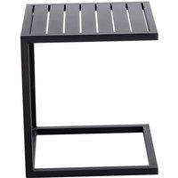 Table d'appoint de jardin en aluminium - Noir