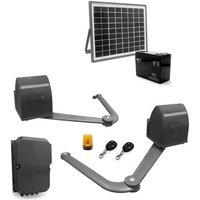 AVIDSEN Kit de motorisation à bras articulés B250 pour portail à 2 battants 5 m/500 kg avec kit solaire 654312