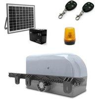AVIDSEN Kit de motorisation 12VDC pour portail coulissant 4m/400kg avec kit solaire 654312