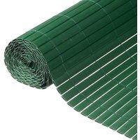 NATURE Canisse double face PVC vert - 1 x 3 m - 1900 g/m² set de fixation inclus
