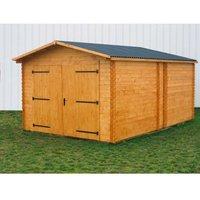 Garage 20,98m² en bois massif - Toiture en plaques ondulées