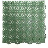 D-C-FLOOR Lot de 7 dalles de sol en polypropylène 1m² - 38 x 38 cm - Vert