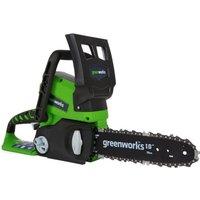 GREENWORKS TOOLS Tronçonneuse électrique - 24 V - 25 cm sans fil batterie lithium  2000007
