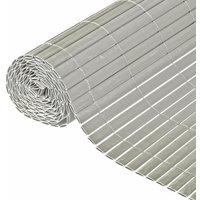 NATURE Canisse double face PVC gris - 1 x 3 m - 1900 g/m² set de fixation inclus