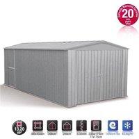 Garage métal gris acier absco 13,20m²