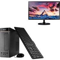 Pack Asus K20CE-FR062T - 4Go RAM - Windows 10 - Intel Pentium - HD Graphics - Disque Dur 1To + Ecran Samsung 24