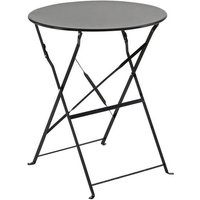 Table de jardin en acier 60 x 60 cm - Noir