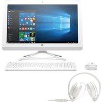 Pack HP PC Tout en un-22b000nf - Blanc - 21,5 - 4Go de RAM - Windows 10 -Core i3- Intel® HD 520- Disque Dur 2To+ Casque stéréo