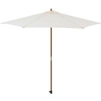 Parasol en bois rond et polyester 160g/m² - Arc 2,7 m - Beige